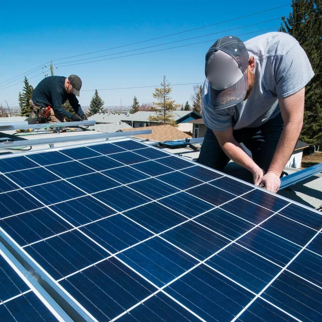 Solceller - installation i Lerum (1)